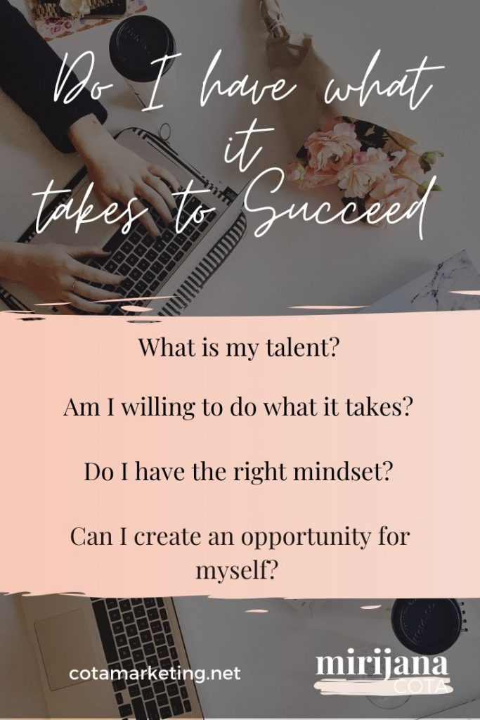 Do I have what it takes - working in marketing
